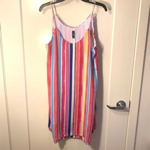 NWT Francesca's rainbow dress
